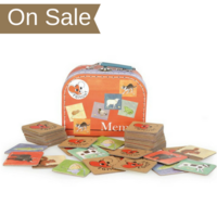 Children's farm animals memory game in carry-case