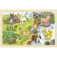 Baby Animals Wooden Jigsaw Puzzle 3+