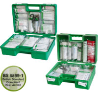 Deluxe Workplace First Aid Kits - Green Cases