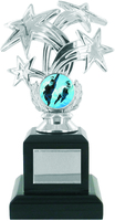 17cm Silver Star Trophy on Black Base