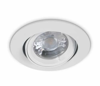 White Flat Edge Adjustable Downlight | LV1202.0048