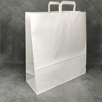 Flat Handle Carrier Bag White 400mm x 160mm x 450mm