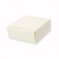 BOX GIFT IVORY SIDE OPEN 250X250X100MM