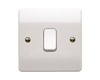 MK 1 Gang 2 Way 10AX Plate Light Switch