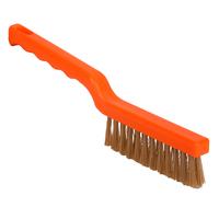 Short machine brush - high heat, stiff Peek bristle, 270mm, orange