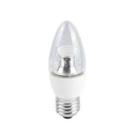 35MM LED CLEAR CANDLE DIMMABLE   240V 4WATT ES/E27 CLEAR WARM WHITE (25W)