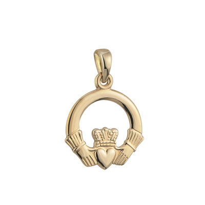 9K MEDIUM CLADDAGH CHARM
