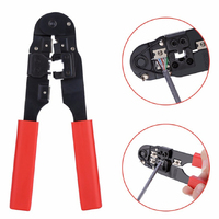 NETWORK CABLE TOOL, CRIMPING MODULAR PLIER