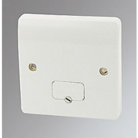 MK LOGIC PLUS UNSWITCHED FUSED SPUR WITH FLEX OUTLET I GANG 13A