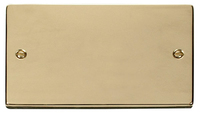 Click Deco Victorian Polished Brass 2 Gang Blank Plate | LV0101.0190
