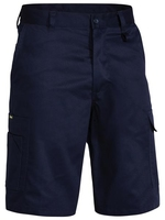 Bisley Lightweight Flat Front Cotton Utility Shorts 240gsm