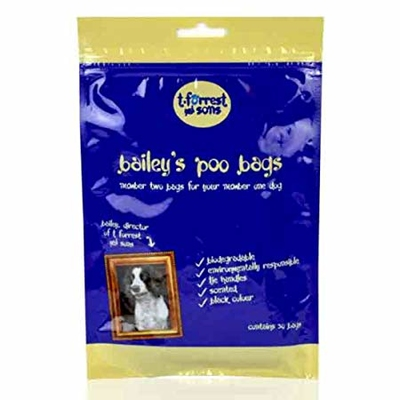 Bailey's Poo Bags - 50 Bags in Flat Pack x 20