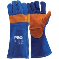 Blue Welders Glove Kevlar Stitched