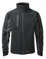 "TuffStuff Stanton Softshell Jacket Black/Grey Large (44-46"")"