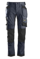 SNICKERS 6241 BLACK ALL ROUND STRETCH WORK TROUSERS