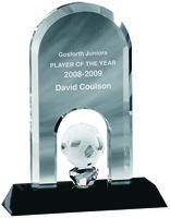 18cm Crystal Soccer Trophy | TC12