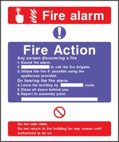 Fire Action Sign FACT0016-0453