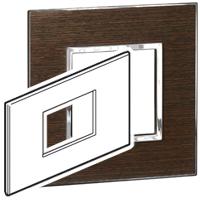 Arteor (British Standard) Plate 3 Module Square Wenge | LV0501.2679