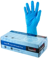 Blue Nitrile Long Cuff 300mm Powder Free Glove