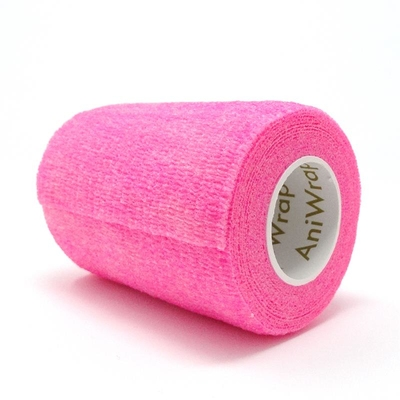 Purfect Aniwrap Cohesive Bandage Fluorescent Pink 7.5cm
