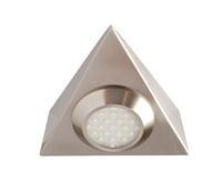 Robus 2W LED Triangular Cabinet Light WW Brushed Chrome