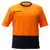 Hi Vis Day Only Zip Pocket Polar Fleece Tee Shirt 280gsm NZFOA Standard