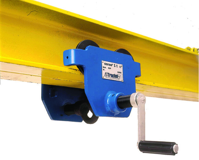 Tractel Corso Manual Push Trolley for Man-Riding Application Including Brake