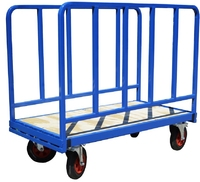 Adjustable Double Sided Trolley with Jailbar Sides
