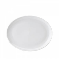"""Pure White Oval Plate 10"""" (25cm)"""