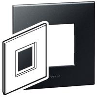 Arteor (British Standard) 1 Gang 2 Module Square Graphite | LV0501.0131