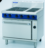 Six Radiant Element Electric Convection Oven Range E56