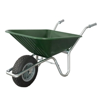 County Clipper Wheelbarrow Plastic 90-110lt - Green