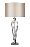 Hinton Table Lamp, Crystal Complete With Shade | LV1802.0137