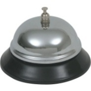 Bell Chrome Plated Black Laquered Steel Foot 85mm Diameter