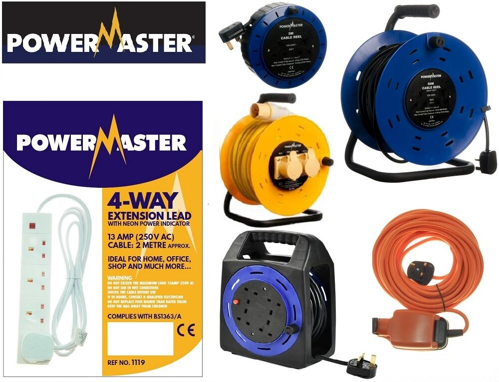 POWERMASTER CABLE REELS & EXTENSION LEADS