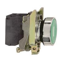 Telemecanique Green Flush Pushbutton 1NO Contact