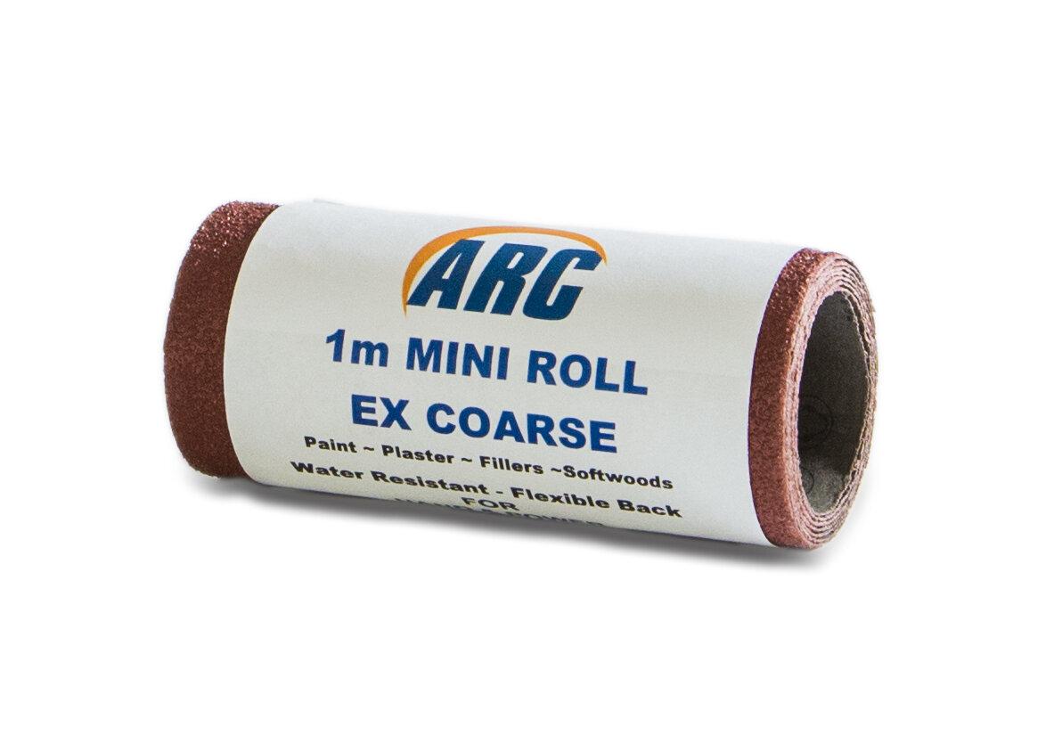 1M MINI ROLL EXTRA COARSE SANDPAPER