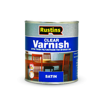 RUSTINS POLYURETHANE CLEAR VARNISH SATIN 2.5LTR