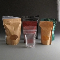 Flexible stand up food pouches.
