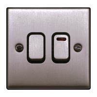 FEP Low Profile Satin Chrome Dual Immersion Switch Black Insert Chrome Switch | LV0801.0009
