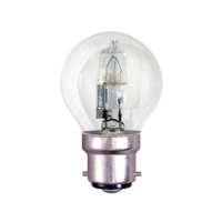 TOUGH LAMP - GOLF BALL 45MM   240/50V 18WATT (25W) BC/B22 CLEAR