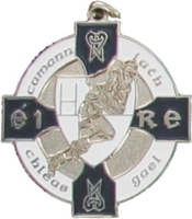 34mm Gaelic Football Medal - Silver / Navy