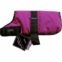 "Outhwaite Dog Coat Padded Lining 20"" Raspberry x 1"