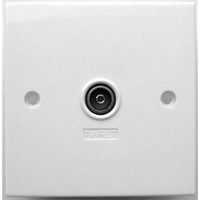 TV (IEC),  Single, 1 Way Wall Plate (304122)