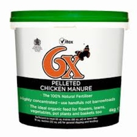6X Pelleted Chicken Manure Fertiliser 8kg