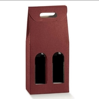 2 Bottle Wine Box with carry handle