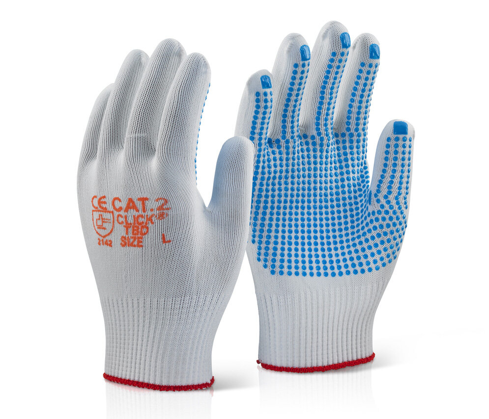 CLICK TBD Tronix Blue Polka Dot Glove (Pair)