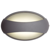 ANSELL Vela 4100K LED Wall Light Silver Grey
