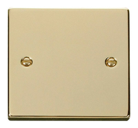 Click Deco Victorian Polished Brass 1 Gang Blank Plate | LV0101.0189