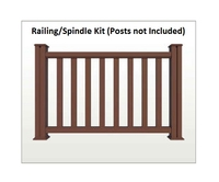 Composite Railing and Spindle Kit for Decking Brown 1.48 Metre